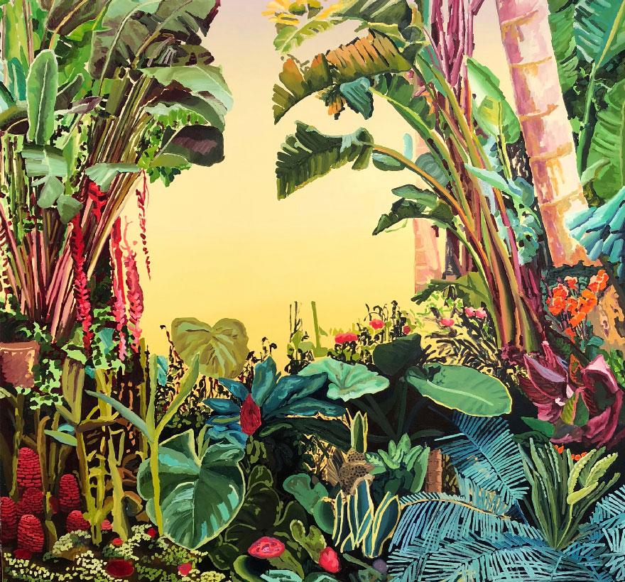 Jardines, cactus y flores